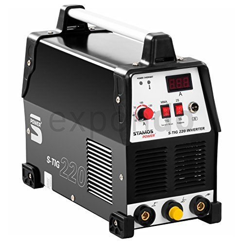 stamos power s tig 220 wig schweissgeraet 220 ampere schweissstrom zusaetzliche e hand schweissfunktion 60 einschaltdauer hf zuendung powerventilatoren - Stamos Power - S-TIG 220 - WIG-Schweißgerät - 220 Ampere Schweißstrom - zusätzliche E-Hand-Schweißfunktion - 60% Einschaltdauer - HF Zündung - Powerventilatoren